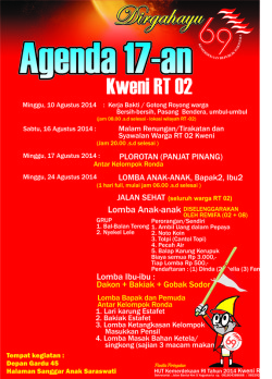 Pamflet HUT RI 69 Tahun 2014 - up